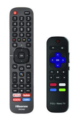 TCL vs HIsense Remote