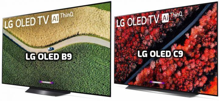 LG OLED C9 vs OLED B9 Design