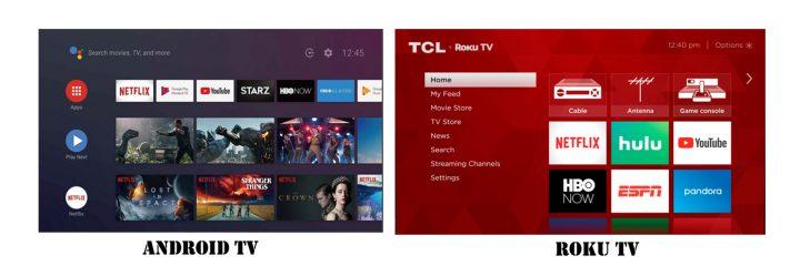 Roku TV vs Android TV